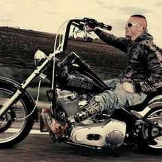 On a steel horse he rides~Wounded Warrior.  Much Respect!