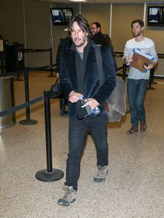 Keanu Reeves Celebrities arrive at the Salt Lake City airport for the Sundance Film Festival. (Jan. 22, 2017 -
