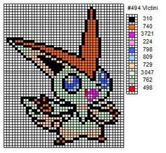 494 Victini by cdbvulpix.deviantart.com on @deviantART | Cross Stitch Pattern