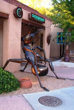 Ant Chair, Canyon Road, Santa Fe NM...love, the amazing art and talents displayed up and down Canyon Road!!!