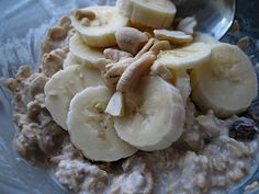 overnight oats : 1/2 cup rolled oats 1/2cup unsweetened vanilla almond milk, syrup,cinnamon, tsp chia or flax, and what ever else you wanna add. let it sit in the fridge over night, and heat it up in the morning. SSSoooooo tasty!, thanks Sydney!