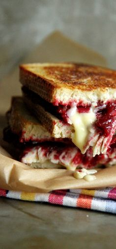 Roasted Turkey, Cranberry and Brie Grilled Cheese . . .