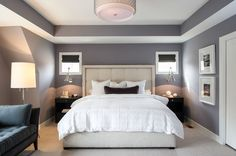 Master-Bedroom-Paint-Colors-With-Grey-Interior-Design-Background-Concept-Combination-With-White-Bedcover-Style.jpg (990×658)