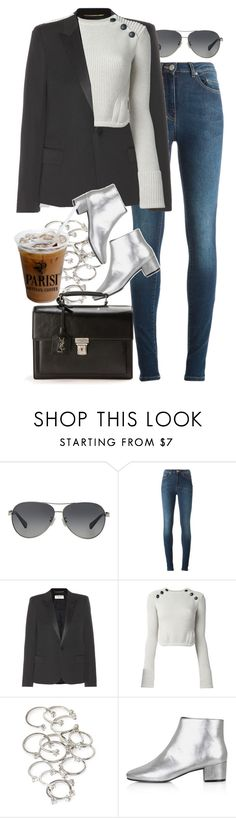 """""""Untitled #8213"""" by nikka-phillips ❤ liked on Polyvore featuring Coach, Acne Studios, Yves Saint Laurent, Isabel Marant, Forever 21 and Topshop"""