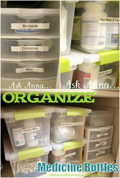 The Dollar Store is the best place in the world to find things that can save you time and money. Honestly, I shop there at least a couple times a week, and have found so many useful hacks. I've also found a great list of Dollar Store hacks for you. Medicine Cabinet Organization, Linen Closet Organization, Organization Hacks, Bathroom Organization, Organize Medicine, Medicine Cabinets, Household Organization, Organizing Ideas, Bathroom Ideas