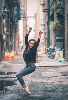 Dancers against city backdrops by Omar Robles (Seatle, Washington)