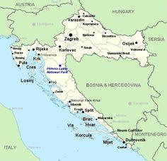 Plattegrond rondreis Kroatie met de auto