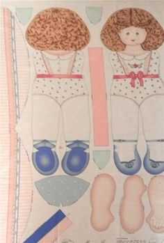 Mary Jane doll panel, Daisy Kingdom