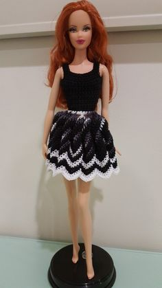 This hub is a free crochet pattern for a Barbie Twisted Chevron Dress.