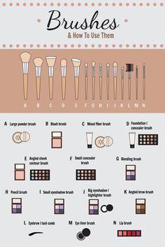 Make-up Pinsel & wie man sie benutzt! – Sie wissen nicht genau, welchen Make-up… Makeup brushes & how to use them! – You don't know exactly which makeup brush to use for which texture? Makeup Brush Uses, Best Makeup Brushes, Eyeshadow Brushes, Eyeshadow Makeup, Best Makeup Products, Beauty Products, Best Makeup For Contouring, Highlighting Contouring, Makeup Brush Storage