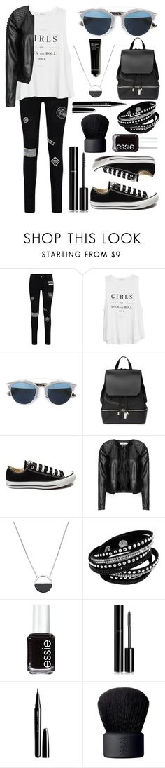 """""""Girls rock"""" by alpha-moon ❤ liked on Polyvore featuring MANGO, Christian Dior, COSTUME NATIONAL, Converse, Zizzi, White House Black Market, Essie, Chanel, Marc Jacobs and NARS Cosmetics"""
