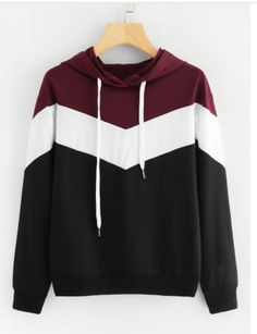Shop Cut And Sew Drawstring Hoodie online. SheIn offers Cut And Sew Drawstring H - Sweat Shirt - Ideas of Sweat Shirt - Shop Cut And Sew Drawstring Hoodie online. SheIn offers Cut And Sew Drawstring Hoodie & more to fit your fashionable needs. Trendy Hoodies, Damen Sweatshirts, Hoodie Sweatshirts, Sweatshirts Online, Cool Hoodies, Colorful Hoodies, Pullover Hoodie, Sweater Hoodie, Cute Hoodie