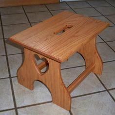 Oak step stool. $35.00, via Etsy.