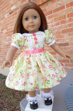 18 Doll Clothes Dress for Easter / Spring Fits by Designed4Dolls, $26.95
