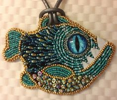 """Joan's """"Fishie"""" completed after a class with Kinga Nichols--love it!"""