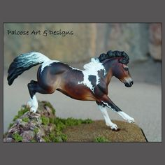 HORSE ART by Paloose Arts, Sheila Anderson, Colo, US. www.paloosearts.com. Sheila does model horse resin sculptures & can create a 3-D model portrait painting of your horse!  He is so cute!!