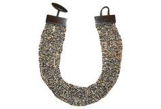 Light & Dark Multistrand Horn Necklace