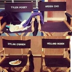 Dylan has food on his chair - that would be me