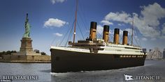 A replica of the Titanic will make its maiden voyage from Southampton to New York in it has been confirmed. Titanic II, the brainchild of Clive Palmer, an Australian mining tycoon, is current… Rms Titanic, Titanic History, Southampton, Belfast, Original Titanic, Liverpool, Set Sail, Atlantic Ocean, Willis Tower