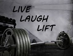 Gym Wall Decal For Home Gym Motivational Fitness - Live Laugh Lift