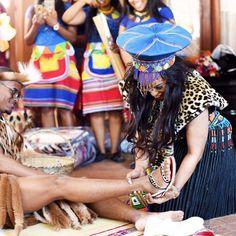 A Flawless Zulu Wedding Zulu Traditional Attire, Zulu Traditional Wedding, African Traditional Dresses, Zulu Wedding, Wedding Attire, Wedding Blog, African Union, South African Weddings, Night Messages