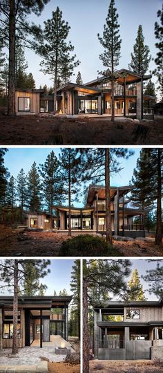 sagemodern Design A new rustic contemporary home in Lake Tahoe - Architecture Ideas Rustic Contemporary, Modern Rustic, Contemporary Home Design, Contemporary Furniture, Contemporary Building, Contemporary Apartment, Contemporary Wallpaper, Contemporary Chandelier, Contemporary Office