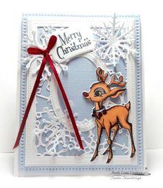 North Coast Creations Stamp Set: Rudolph, North Coast Creations Custom Die: Reindeer, Ovals, Pierced Ovals, Rectangles, Pierced Rectangles, Snowflake Sky, Snow Crystals, Mini Tags