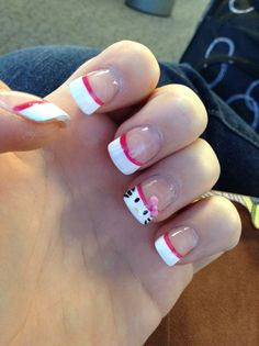 Hello kitty nails <3 my current nails!!