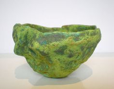 Merran Esson Copper Bowl hand built ceramic with copper & rust glaze 8 x 13 x 11 cm