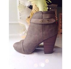 taupe booties #swoonboutique