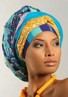 Turbante con bellos colores. Regal