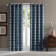 Verona Chenille Window Curtain Panel - BedBathandBeyond.com