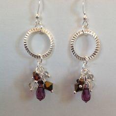 Swarovski cascade cluster dangle earrings with by JewelryByDayna, $22.00