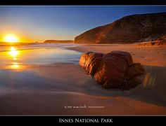 Sunset at Innes National Park, Yorke Peninsula_ South Australia York Peninsula, South Australia, Beautiful Beaches, Sunrise, National Parks, Water, Travel, Outdoor, Image