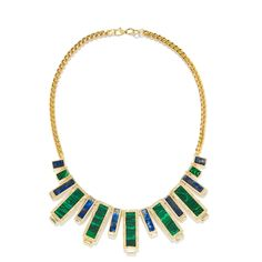 Skyline Statement Necklace | Capwell + Co. | Keep the rich glistening hues in focus and pair this statement necklace with an understated outfit. | Beautiful jewelry to make every day special. Always under $100