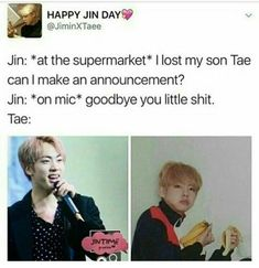 Try to laughing today? Don't worry, here is the solution of the most funniest dank memes collection. Check 42 hilarious memes photos to amuse your pitch-black soul. Bts Namjoon, Kookie Bts, Bts Bangtan Boy, Bts Boys, Seokjin, Bts E Got7, Bts Jin, Bts Memes Hilarious, Bts Funny Videos