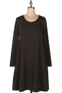 FRENCH TERRY SWING DRESS. 12Y-HC1389