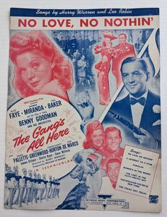 No Love No Nothin' Vintage Sheet Music 20th Century-Fox | Etsy