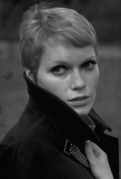 Mia Farrow pixie
