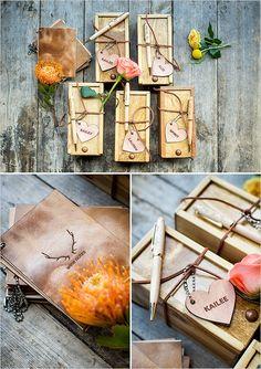 wooden bridesmaid gift box @weddingchicks