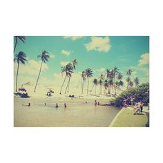 Rockin' summer skies and shore lines. ❤ liked on Polyvore