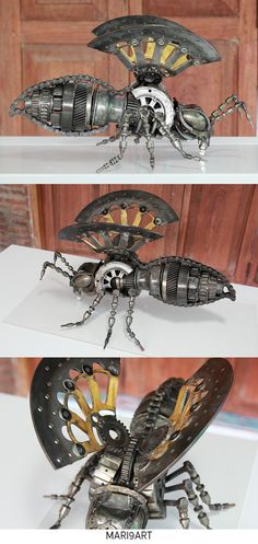 Bee metal sculpture