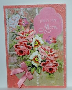 For Mom Mothers Day Thank You Handmade Greeting Card Anna Griffin Inspired 381 #Handmade #MothersDay
