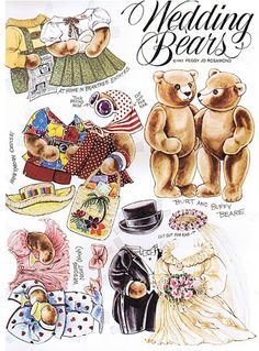 The Teddy Bear and Friends Paper Doll Fantasy: Wedding Bears