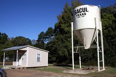 "Places With Funny Names #1--Sacul, Texas (That's Lucas Backwards)  Founded in 1902, the name was chosen because there was already a post office with the name of ""Lucas"" in the state."
