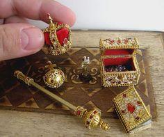 The Crown Jewels for dolls  dollhouse miniature by TOYJAN on Etsy, $175.00   https://www.facebook.com/MgrJanaBubenikova