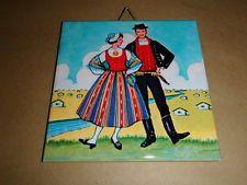 Ceramic Tile Trivet Hot Pad - Finnish Girl OR Finnish Couple Hot Pads, Ceramics, Costumes, Tile, Painting, Couple, Ebay, Art, Ceramica