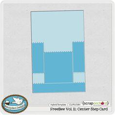 FreeBee Vol. 11: Center Step Card | Hybrid Template by WendyBird Designs