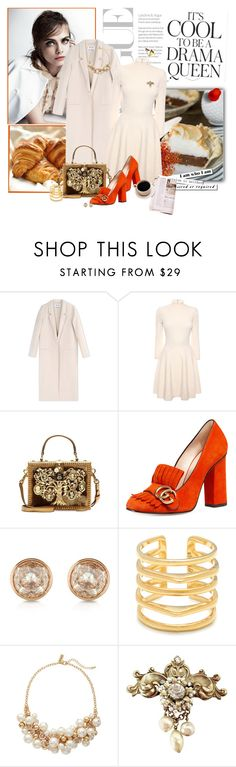 """Orange you glad snowhite ..."" by lindagama on Polyvore featuring Acne Studios, Emma Watson, Alexander McQueen, Dolce&Gabbana, Gucci, Michael Kors, Stella & Dot and The Limited"