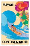 Continental Hawaii Surfer c.1960's Poster :: pinned by katewyld